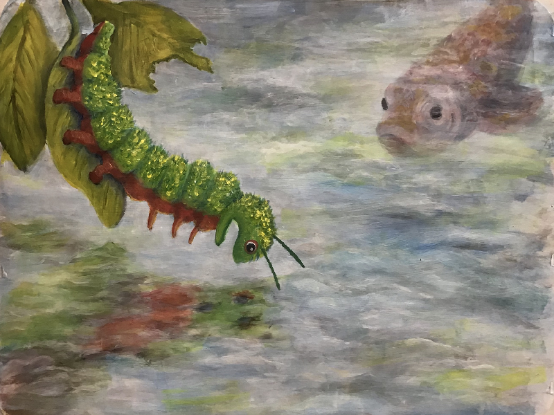 The caterpillar discovers her talent - OH! - Cie Full Circle & Cie Contrepoint